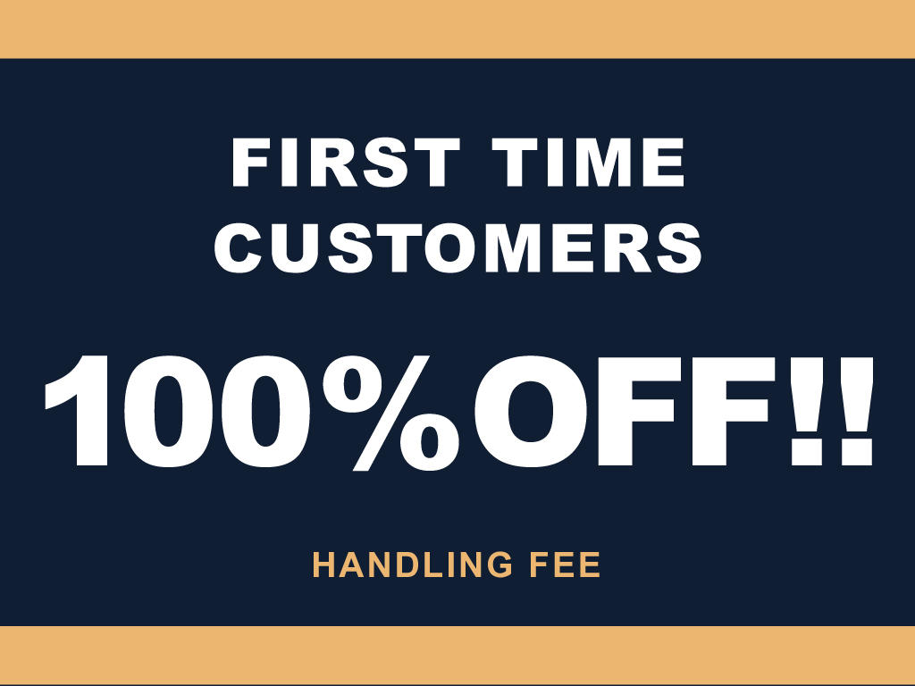 Handling fee 100% promotion for the first time!